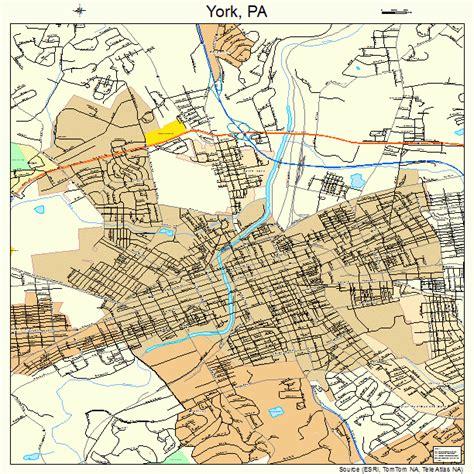 York Pennsylvania Map 4287048
