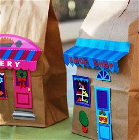 paper bag craft ideas paper bag buildings things to make and do crafts and
