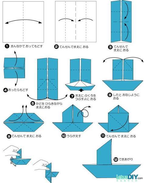 origami boat diy paper folding paper sailing boat letusdiy org