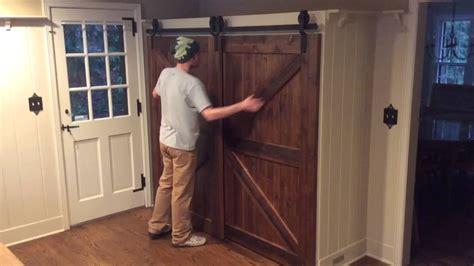 single barn door single track bypass barn door system