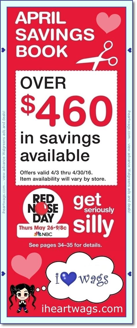 walgreens picture book i wags ad scans april 2016 coupon book 04 03 04 30