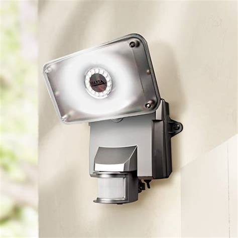 solar motion activated security light silver motion activated solar led security light 4c348