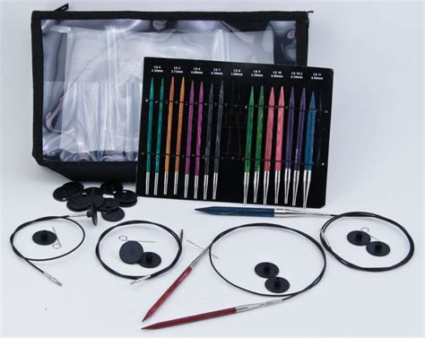 knitting needles set dreamz interchangeable deluxe knitting needle set by