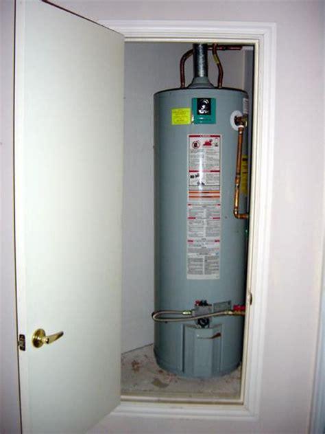 water heater closet door southern home