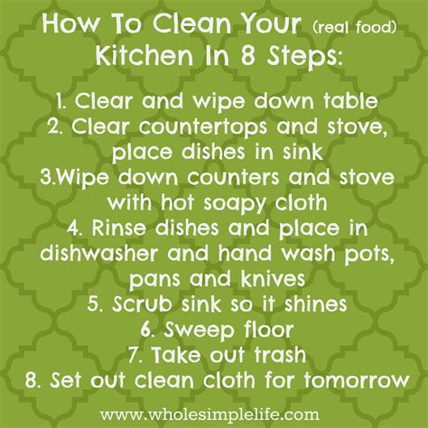 how to clean your kitchen in 8 simple steps anxiety