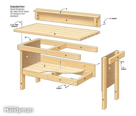 workbench plans classic diy workbench plans the family handyman