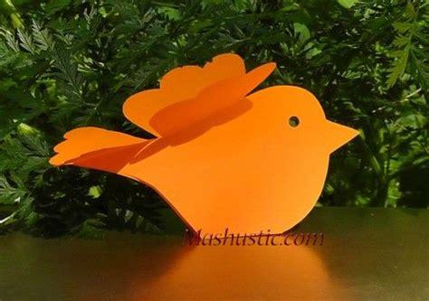 paper birds craft paper crafts birds brico