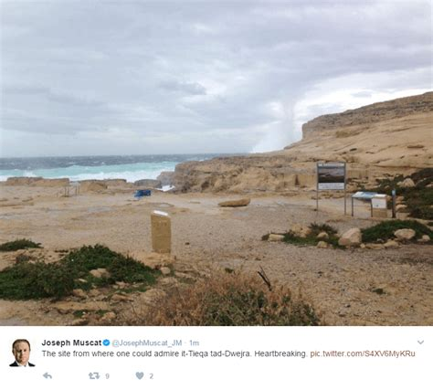 azure window in gozo collapsed 8th march 2017
