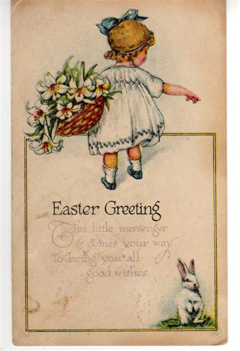 vintage card view from the birdhouse a few antique easter cards