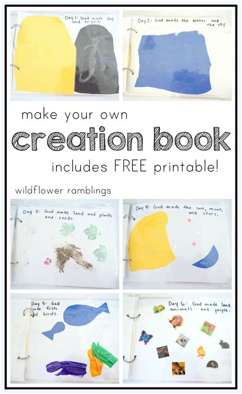make your own picture book free make your own creation book free printable wildflower