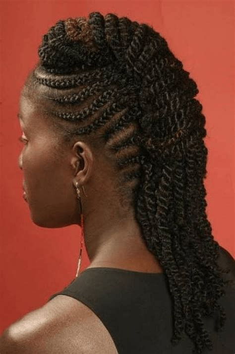 braided mohawk with 6 edgy braided mohawk hairstyles for black in 2014
