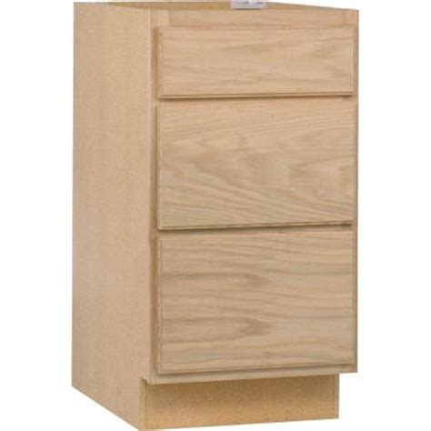 unfinished wood cabinet doors home depot 18x34 5x24 in base cabinet with 3 drawers in unfinished