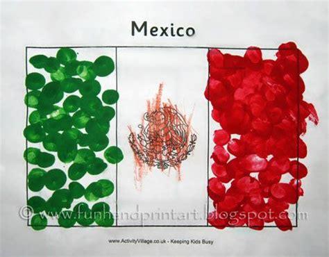 mexican craft fingerprint flag of mexico craft bandera de m 233 xico