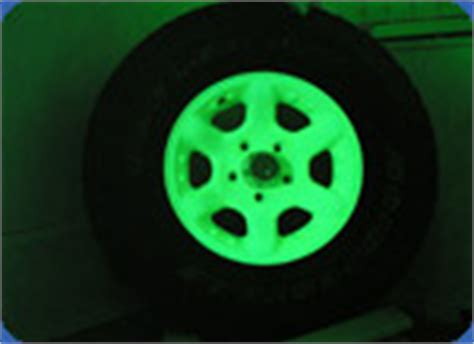 glow in the painted rims glow in the car rims luminescent paint for wheels