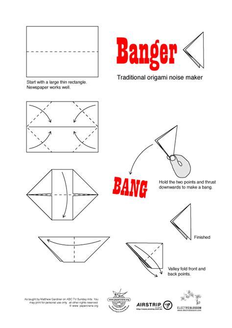 origami banger paper crane australasian origami