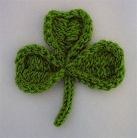 st knit shamrock knitting pattern a knitting