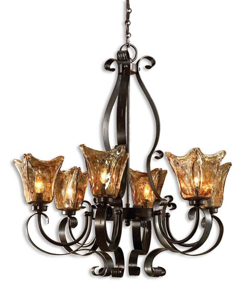 uttermost chandeliers uttermost 21006 vetraio 6lt rubbed bronze chandelier