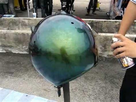 spray paint motorcycle helmet spraying helmet samurai paint