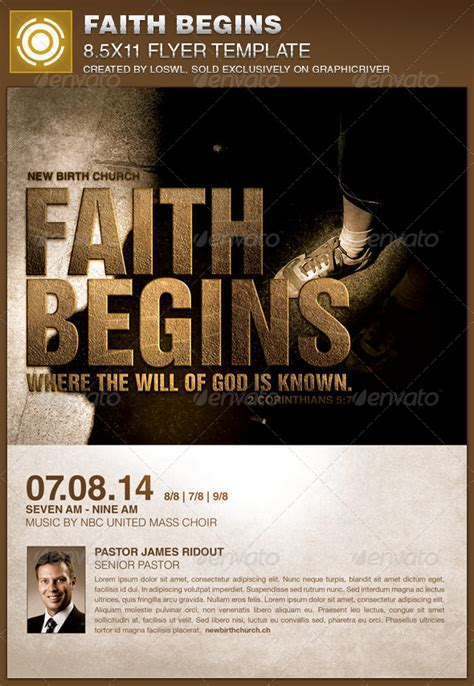 faith begins church flyer template by loswl graphicriver