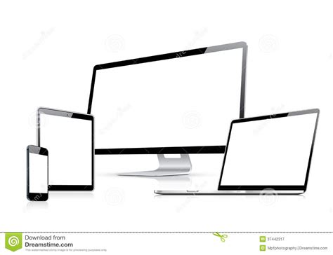 modern web design vector template with laptop tab royalty