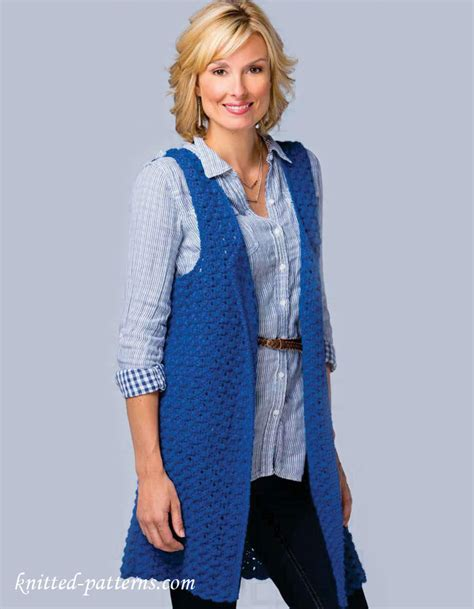 sleeveless jacket knitting pattern s sleeveless jacket crochet pattern free