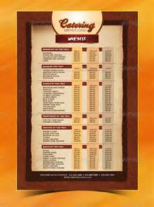 26 catering menu templates free sample example format
