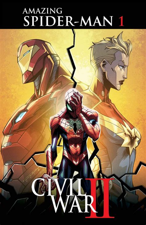 civil war ii suits up in iron spider armor on amazing spider