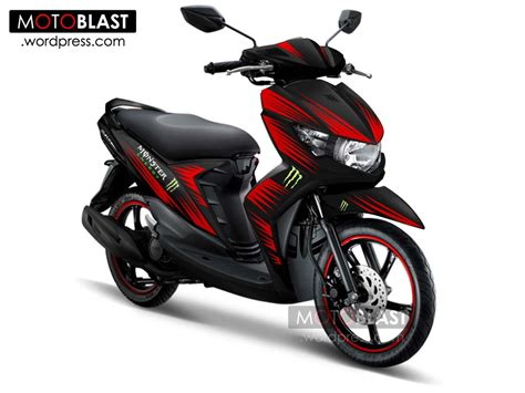 Modifikasi Mio Soul Gt by Modifikasi Mio Soul Gt Merah Modifikasi Motor Kawasaki