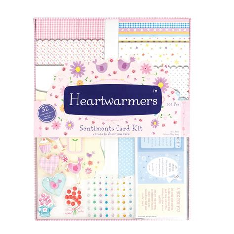 card kits uk heartwarmers sentiments card kit 105100 docrafts from