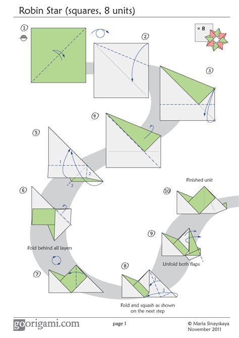 origami diagram easy origami 8 pointed comot
