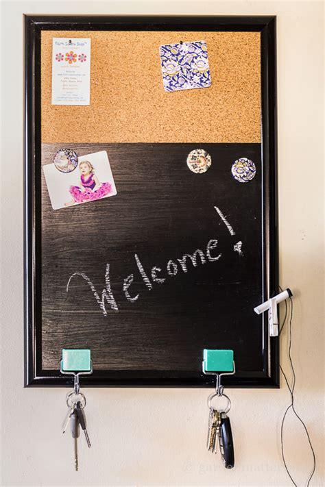 diy chalkboard bulletin board diy easy message board hearth vine