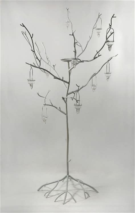 metal twig tree candle holder 71 1 2 quot white wrought iron twig tree candle holder ebay