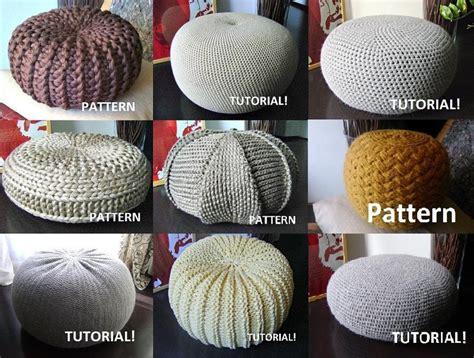 knitted ottoman pouf pattern 9 knitted crochet pouf floor cushion patterns crochet