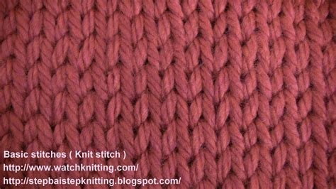 knitting stitches stokinett stitch knit stitch knitting lesson