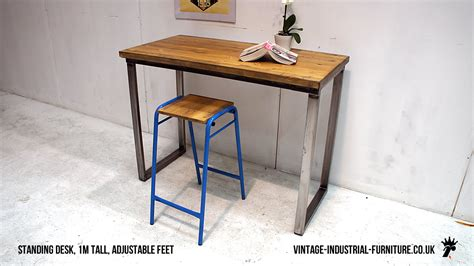 vintage industrial desk vintage industrial loop leg desk
