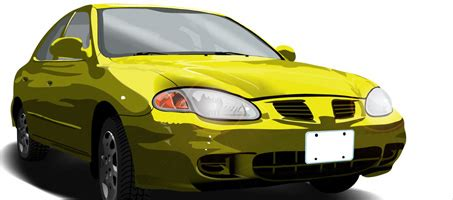 Car Photoshop Cs2 Shapes by Free Car Vector Of An Yellow 99 Elantra Design Chair