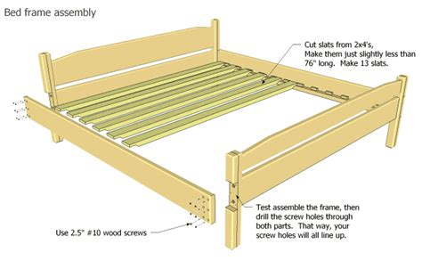 king size bed frame plans easy to build king size bed plan
