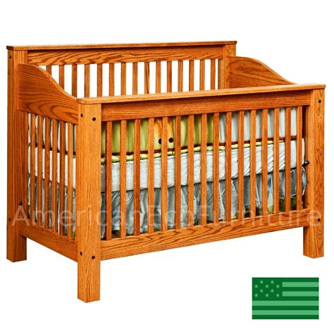 oak baby crib oak baby cribs amish monterey 4 in 1 convertible baby