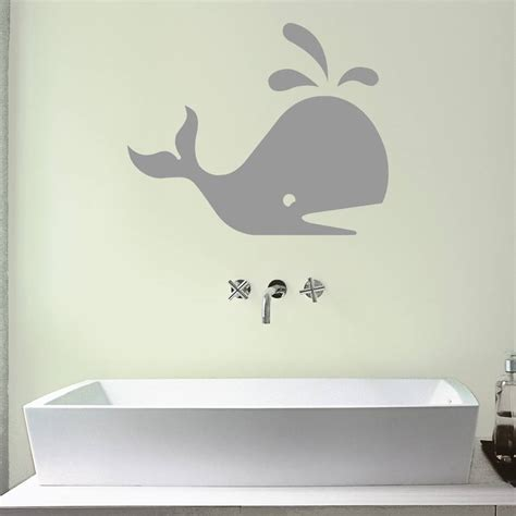 whale wall stickers whale bathroom vinyl wall sticker by mirrorin
