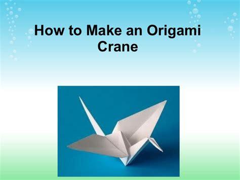 how to make an origami l how to make an origami crane