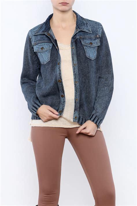 knit denim pbj blues knit denim jacket from cambria by new moon