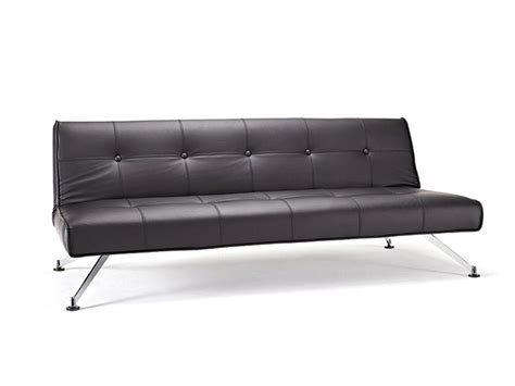 modern leather sofa bed contemporary tufted black leather sofa bed on chrome legs