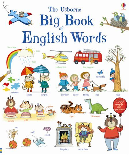 picture word book big book of words at usborne books at home