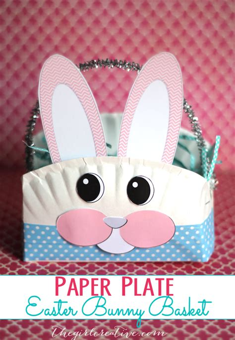 easter bunny paper plate craft paper plate easter bunny basket the creative