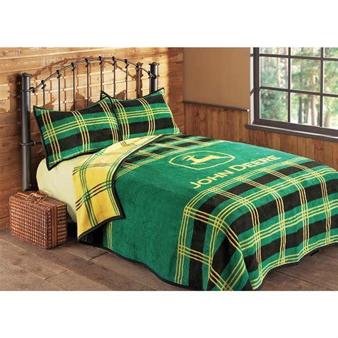 deere bed deere 174 plaid bed blanket 106932 quilts at