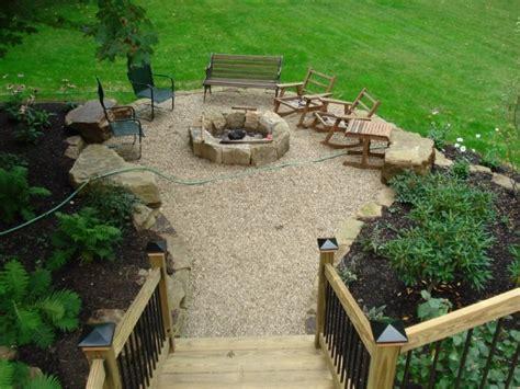 pea gravel pit gravel patio outdoor ideas gravel patio