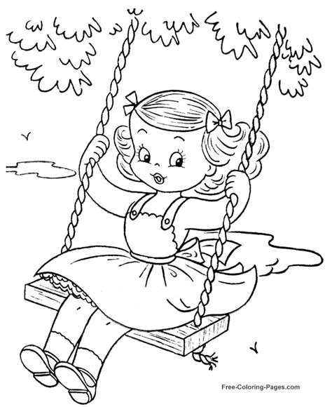 coloring book pictures summer coloring book sheets swinging 28