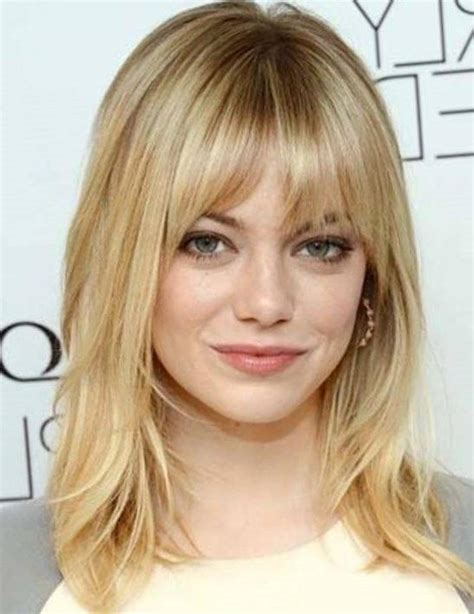 and hairstyles popular medium length haircuts with bangs and layers hair