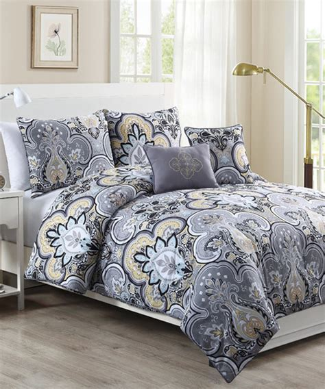 gray and yellow comforter sets yellow gray chester comforter set contemporary