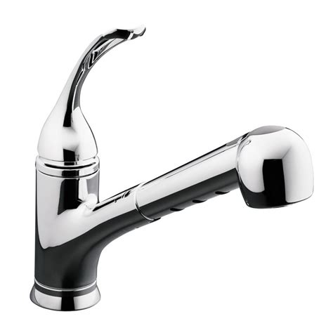 pullout kitchen faucets kohler coralais single pullout spray kitchen sink faucet in polished chrome the home